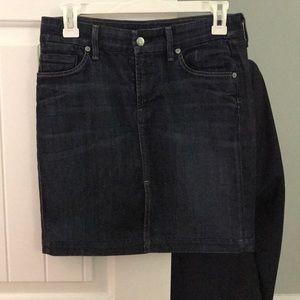 Dark denim (jean) skirt by Citizens of Humanity